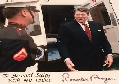 Reagan-Bernie Seeley guarded Marine One during Ronald Reagan's second term._22883