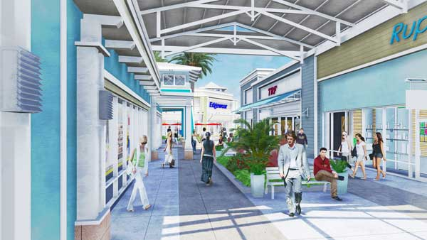 Tampa Premium Outlets artist rendering. Simon image