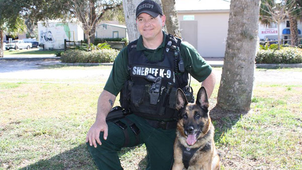 Citrus County Sheriff's Office deputy Jonathan Behnen and his K9 partner. Citrus Co. Sheriff's Office photo