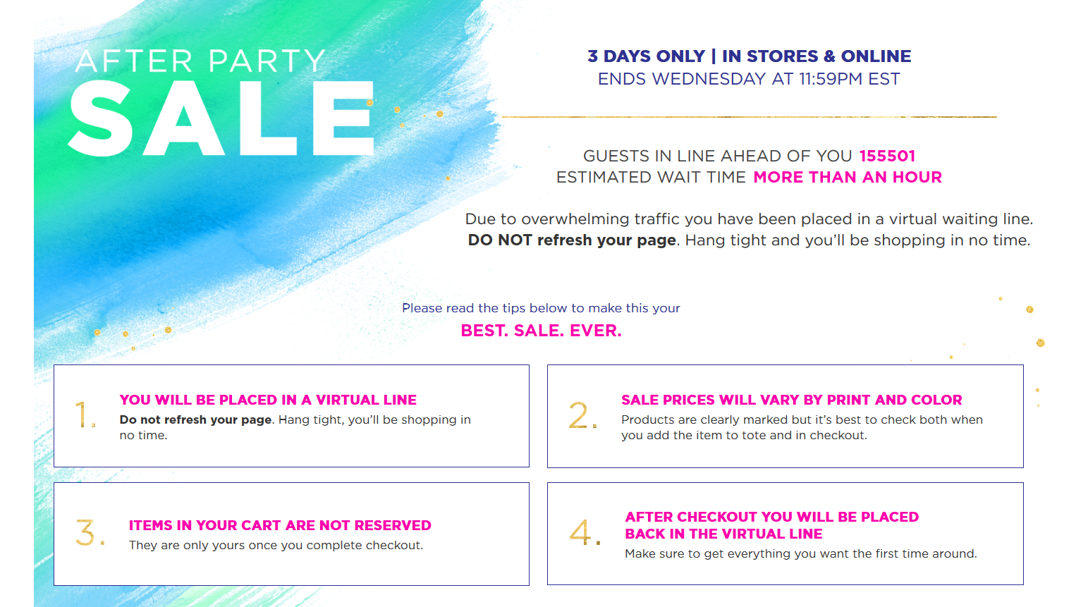 Lilly Pulitzer sale has over 155,000 people waiting in