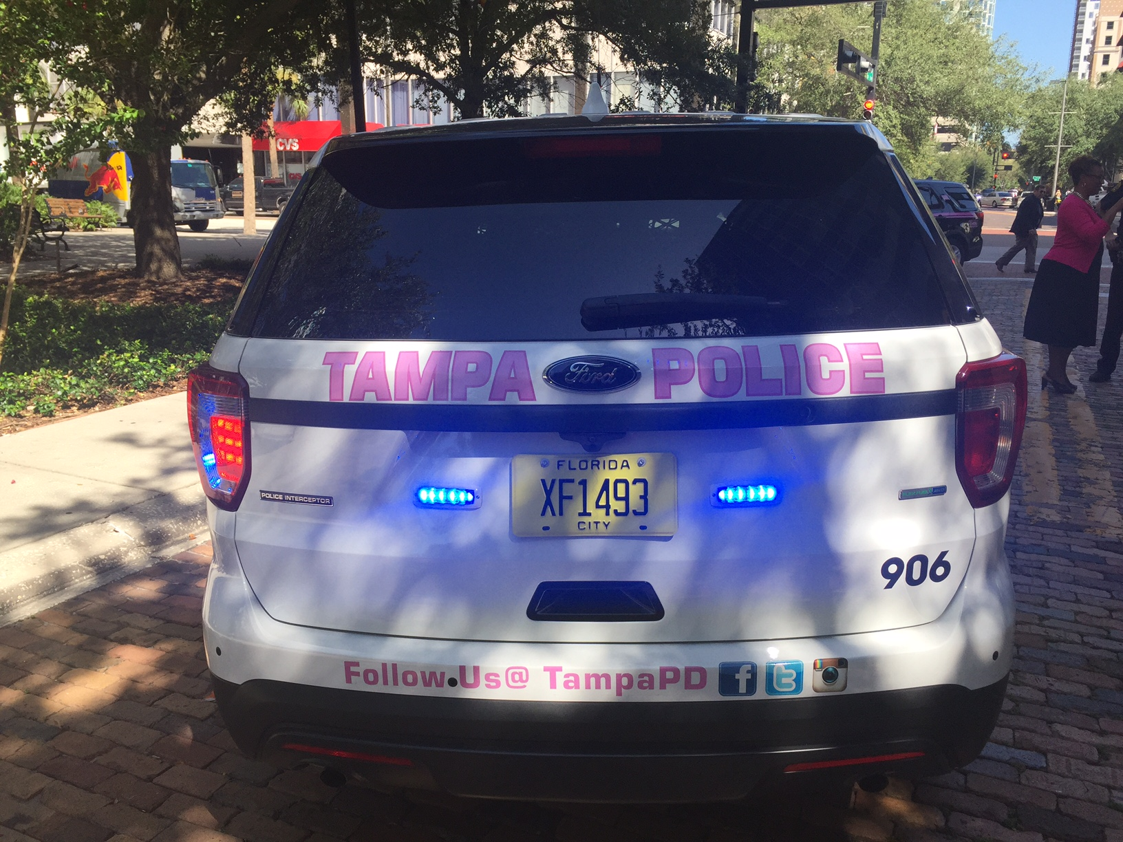 TPDPink: Post selfie with pink Tampa police patrol cars