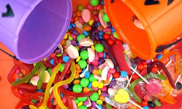 Halloween Trick Or Treat Candy Overhead Jack-o-lantern Buckets_466323