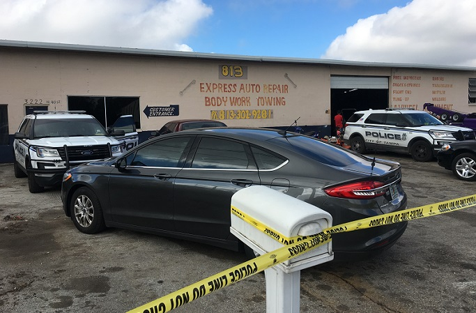 Tampa police say auto business has been working as a chop shop for