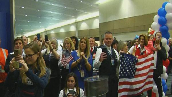 Team US hockey homecoming