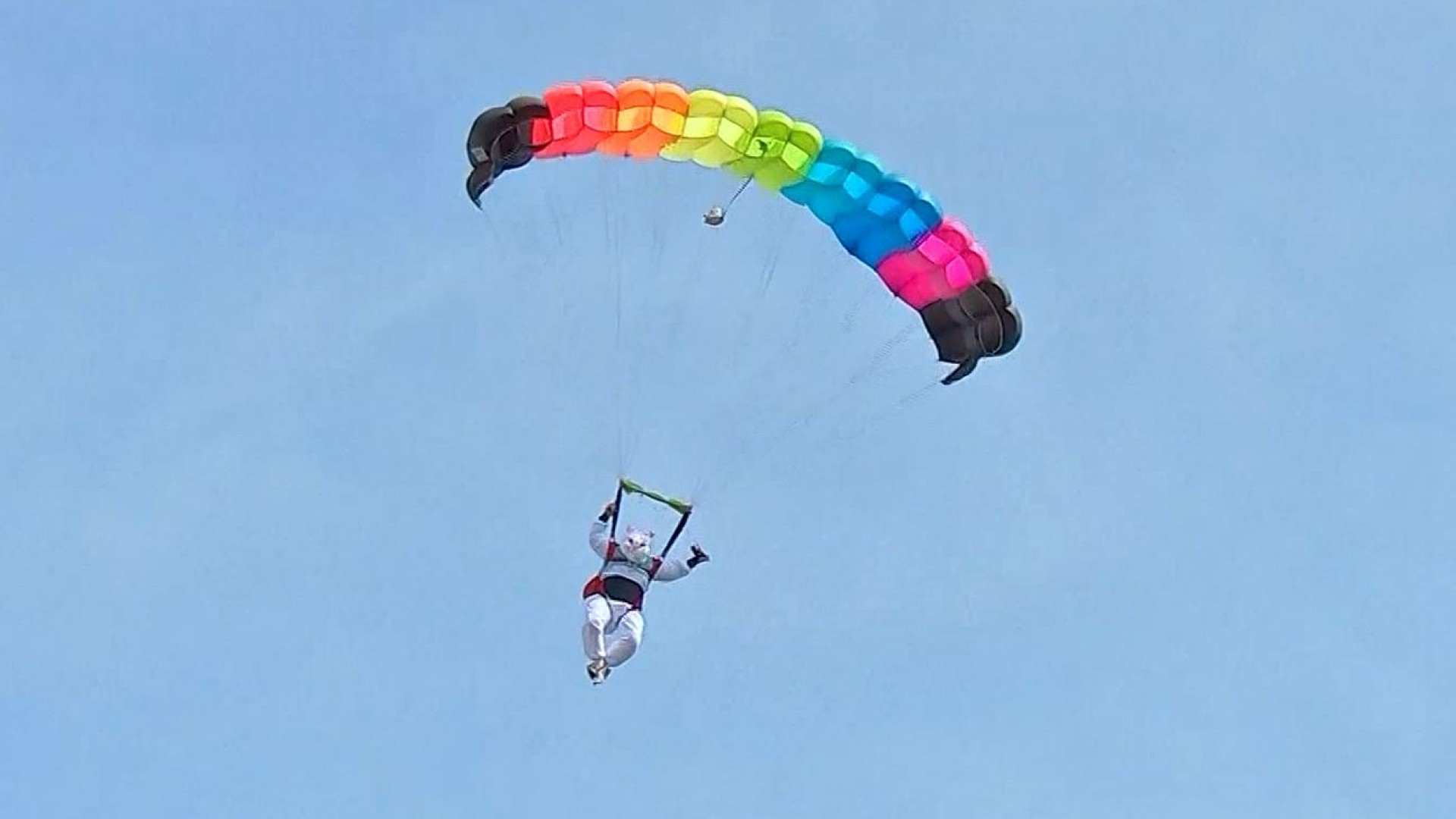 WATCH: Easter Bunny goes skydiving, surprises kids during egg hunt