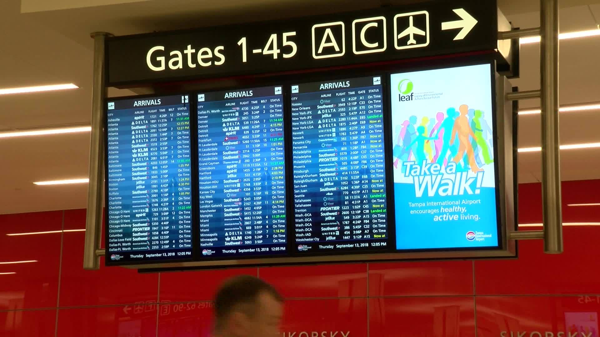 Tampa International Airport sees more flights from North Carolina ahead of Florence