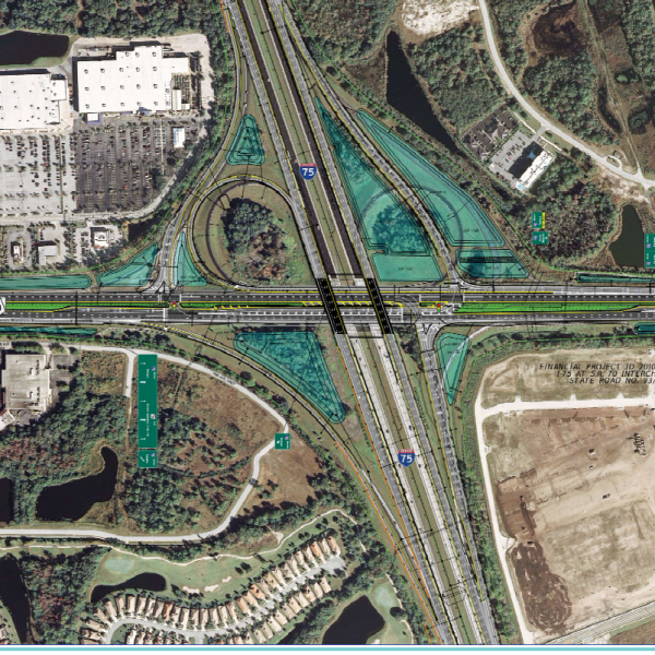 FDOT rendering of I-75 improvements at SR-70