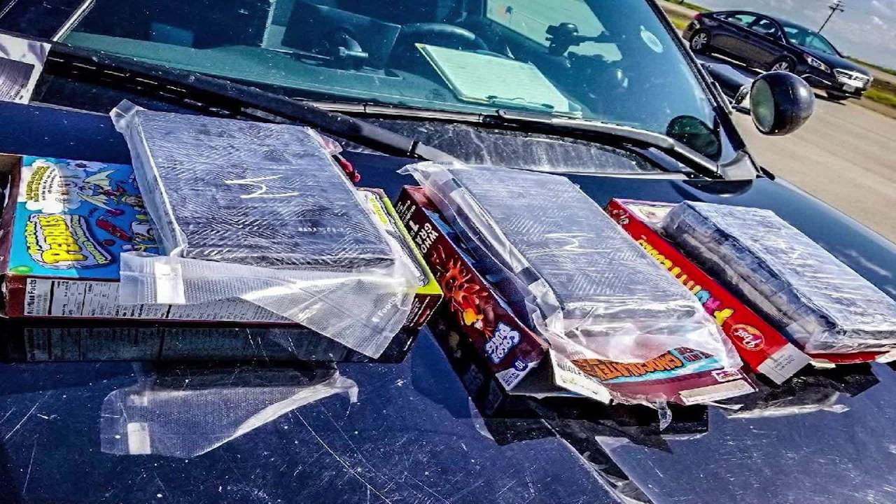 California cops find kilos of cocaine in cereal boxes during traffic