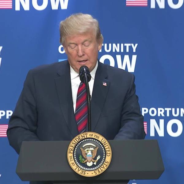 President Trump meets with state lawmakers to discuss 'opportunity zone' program roll out