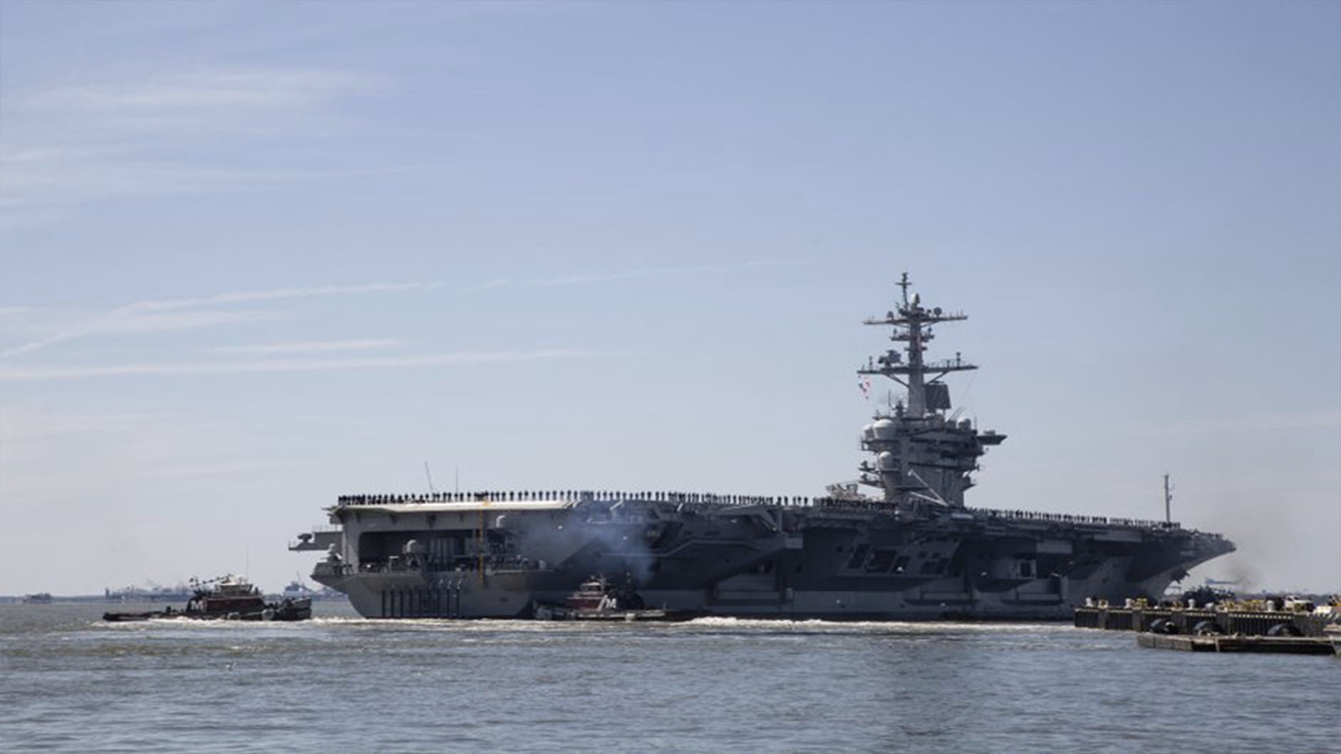 US dispatched aircraft carrier to send message to Iran
