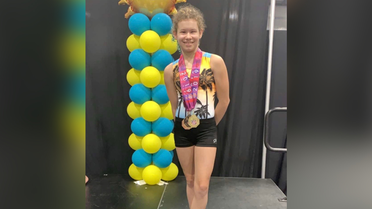Blind gymnast from St  Pete takes gold at national championship