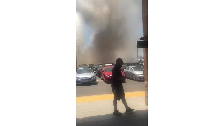 California Carmax Car Lot Catches On Fire