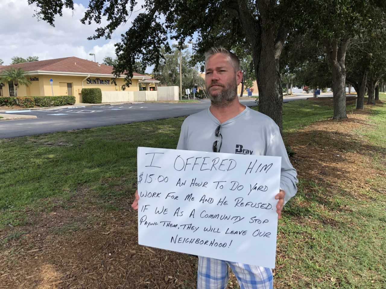 Bradenton Business Owner Offers Homeless Man Job Paying 15 An Hour When Man Refuses Tables Are Turned