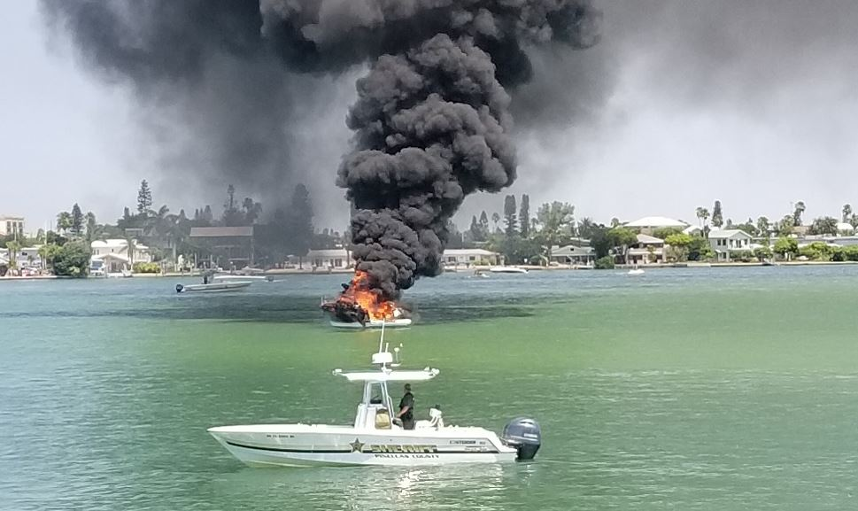 Boat catches fire in John's Pass Marina