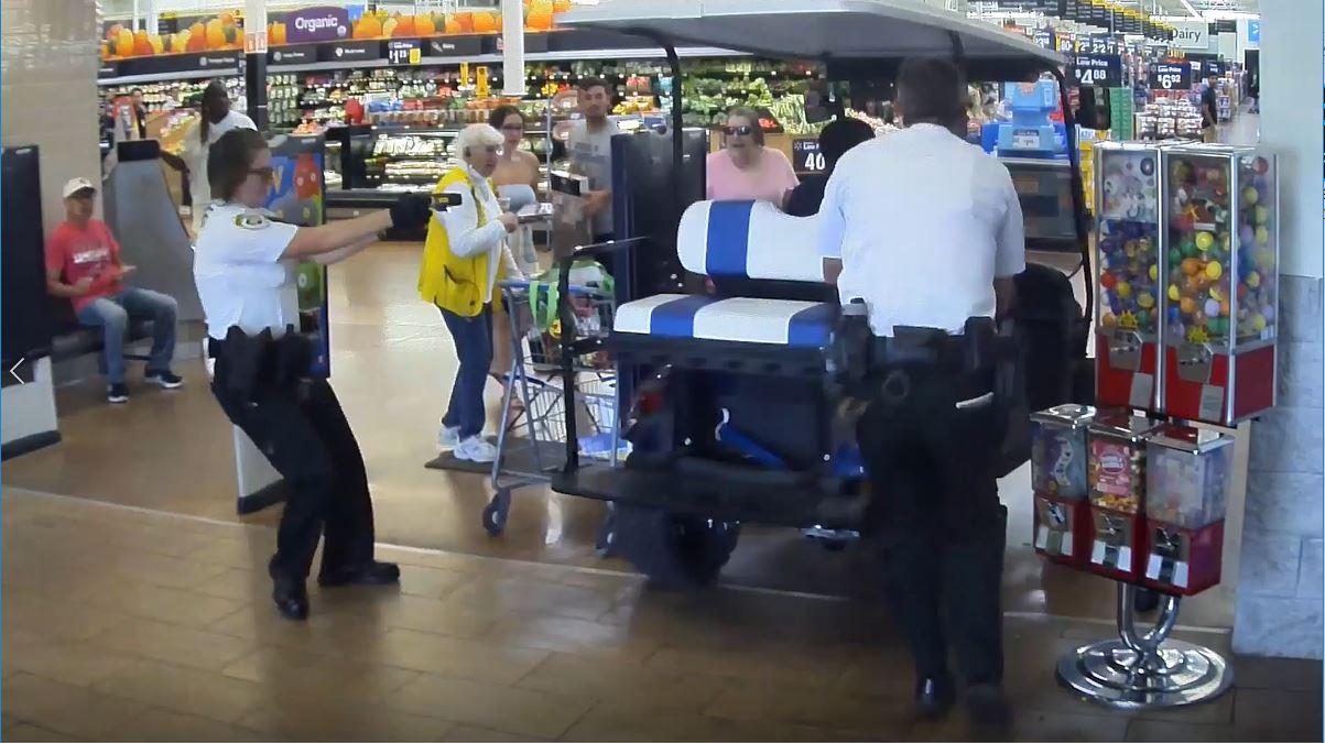 Man drives golf cart inside Gibsonton Walmart, hits several