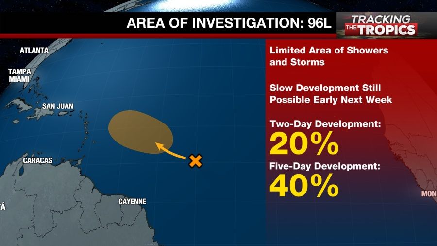 Tracking the Tropics: Chances for development lower Friday
