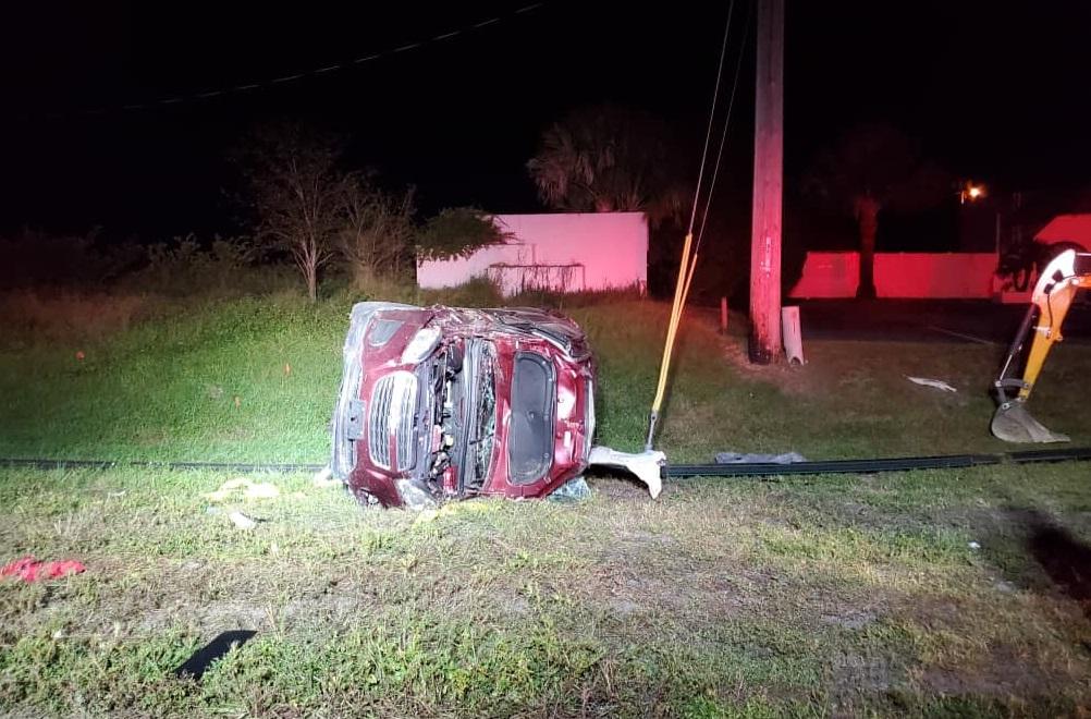 rollover crash injures 1 in west sebring wfla rollover crash injures 1 in west