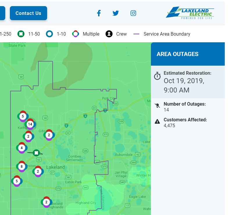 great lakes energy outage map