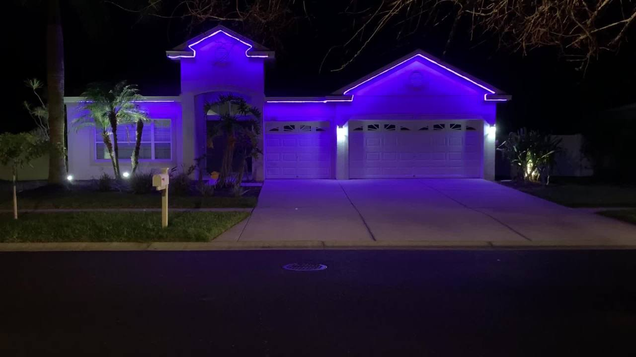Ruskin man creates purple light display in honor of mother fighting pancreatic cancer