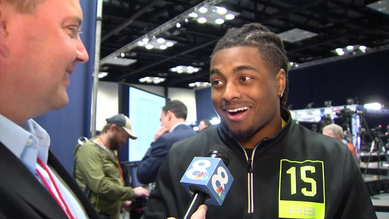 Tampa Bay football star remembers his roots at NFL Scouting Combine