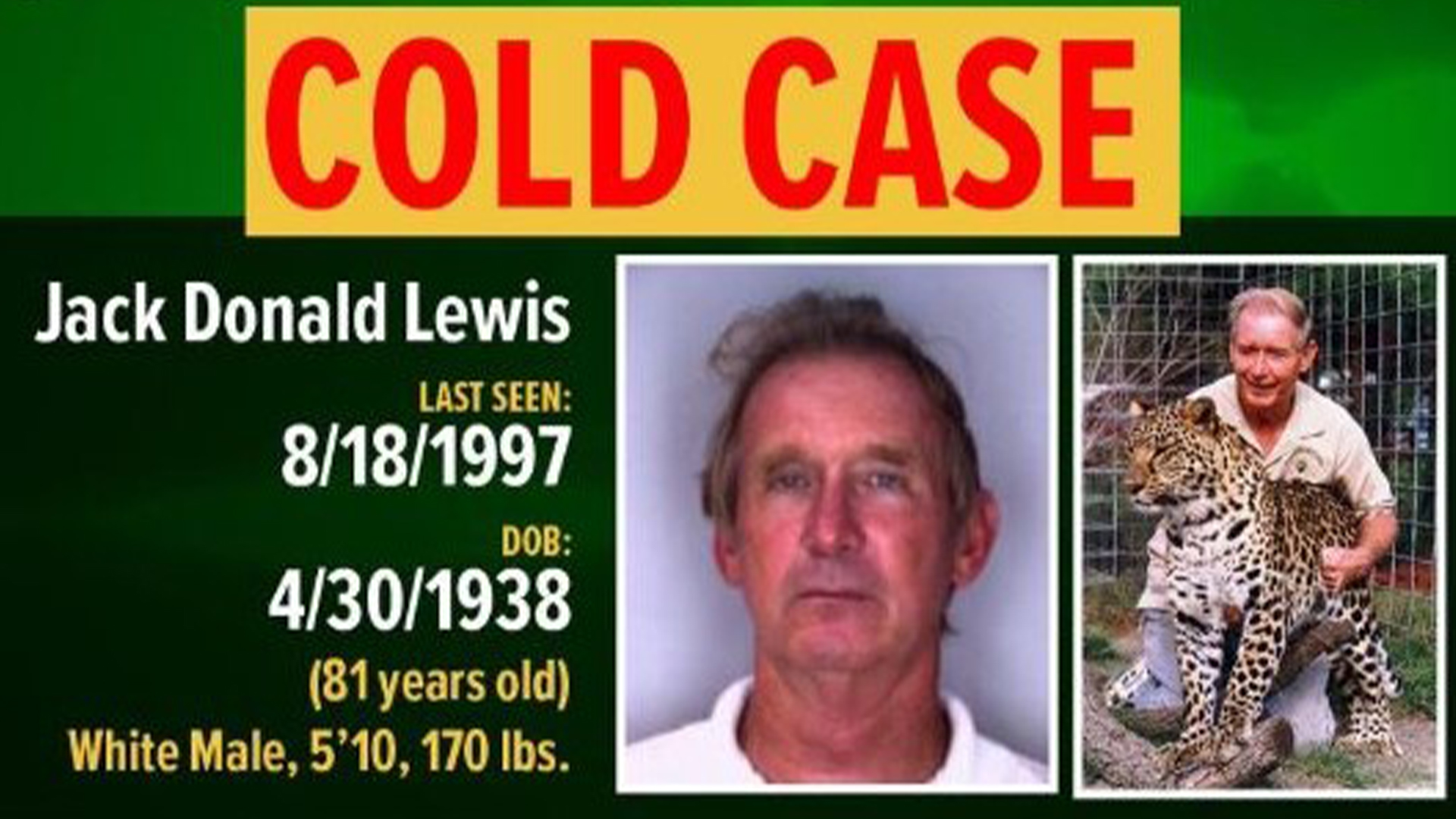 Sheriff Chronister On Don Lewis Disappearance There S Someone Else Involved In This Wfla