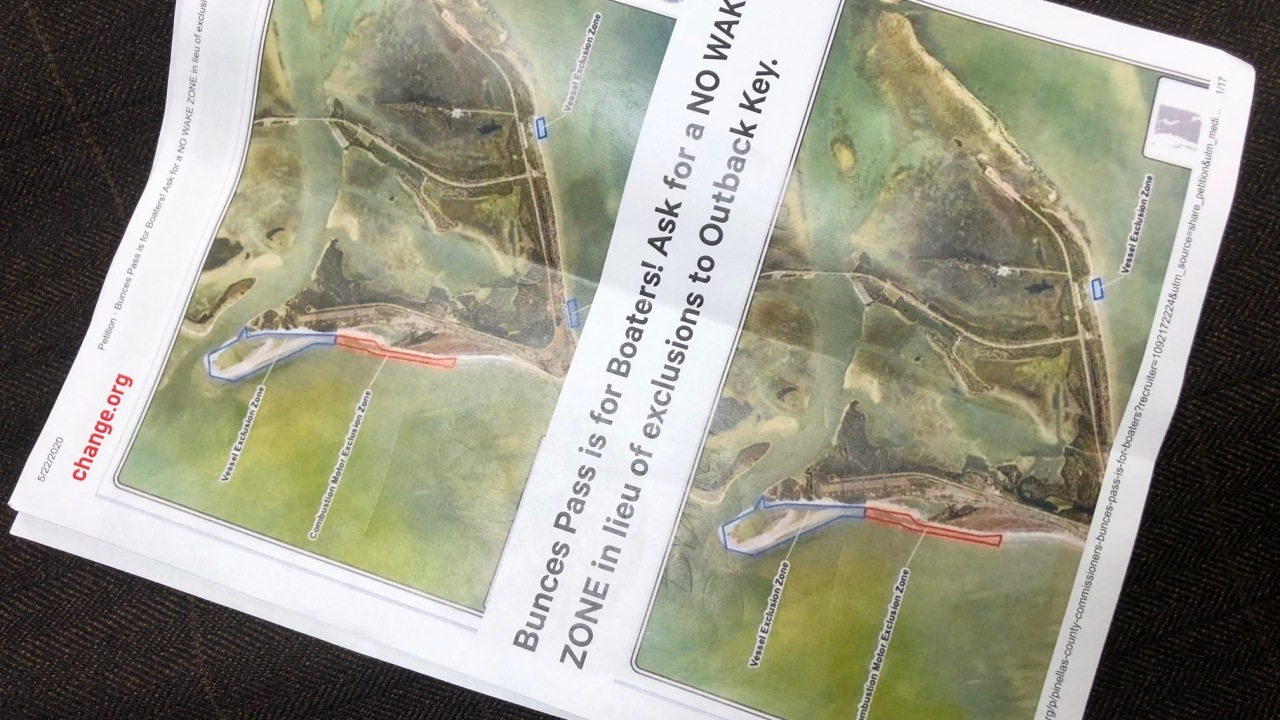 Petition circulating to keep area around Bunces Pass open to boaters