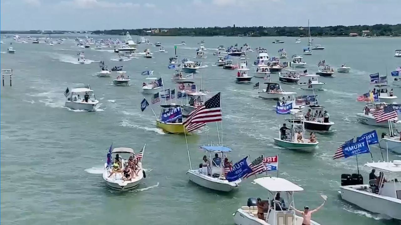 Hundreds sail in pro-Trump boat parade in Pinellas County