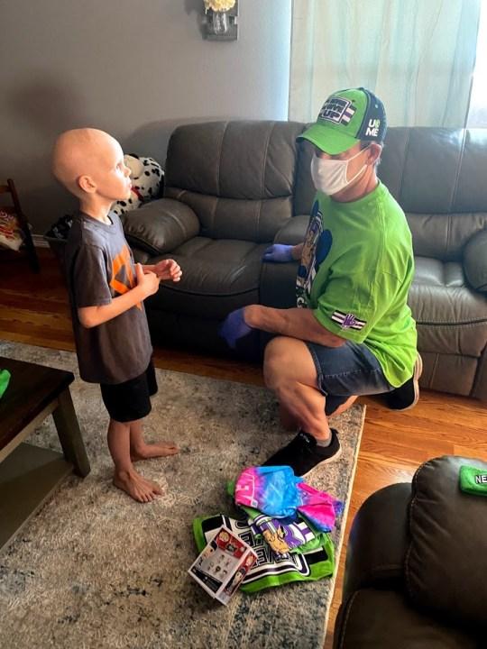 WWE star John Cena surprises Florida 7-year-old battling life-threatening illness