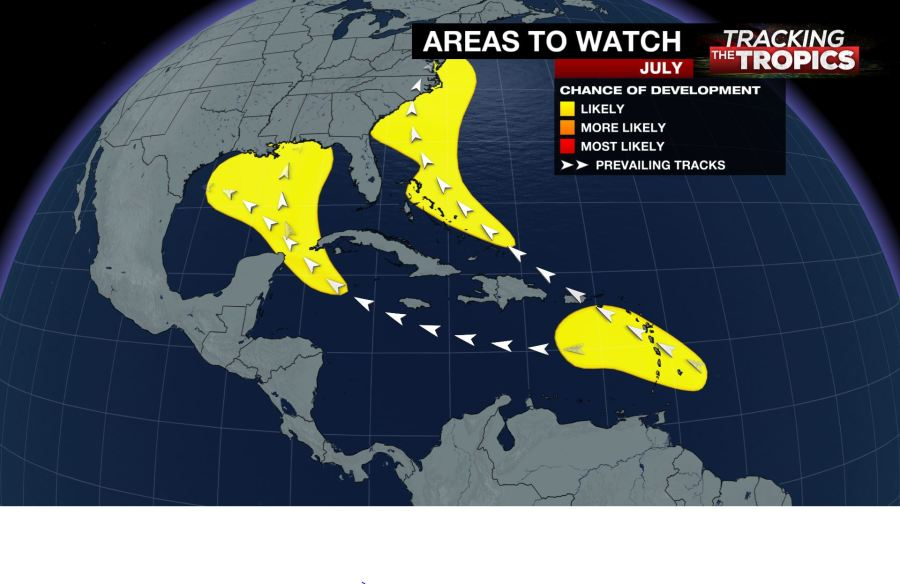 Tracking the Tropics: Different stages of hurricane development