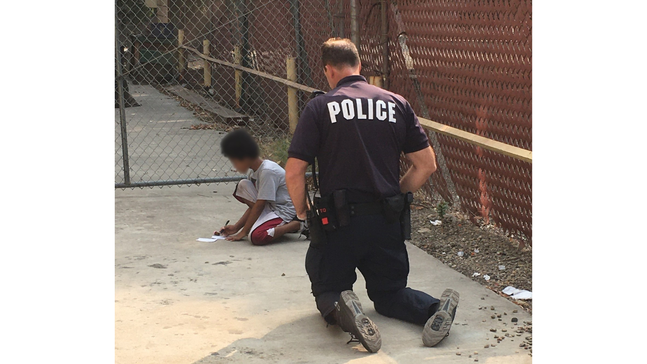 Officer uses paper, pencil to help child with non-verbal autism find family
