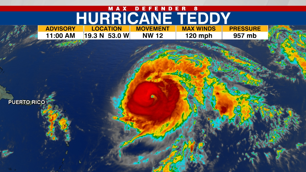 Tracking The Tropics Teddy Becomes Major Hurricane Reaching Category 3 Strength Wfla