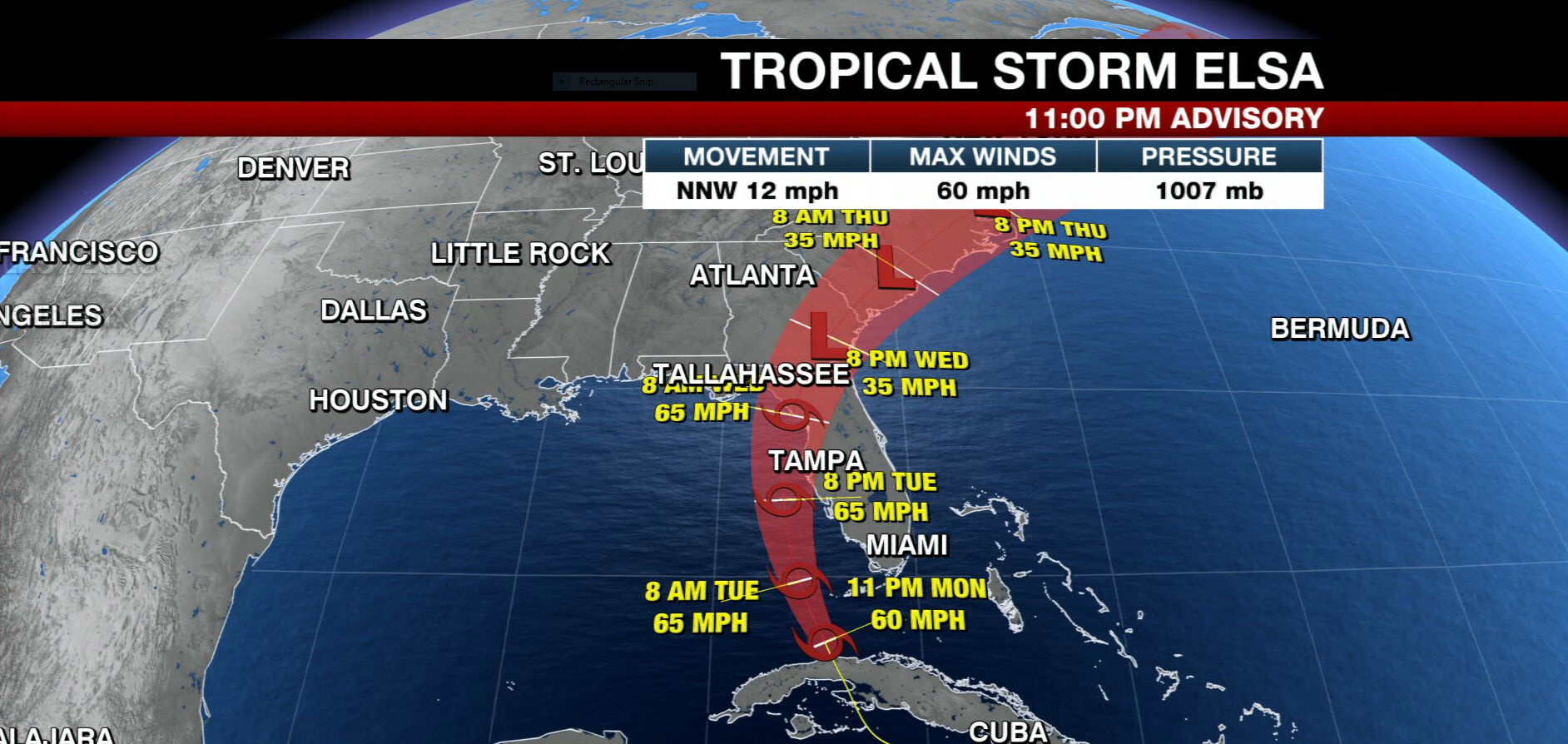Tracking the Tropics: Tropical Storm Elsa emerges off coast of Cuba, back over water