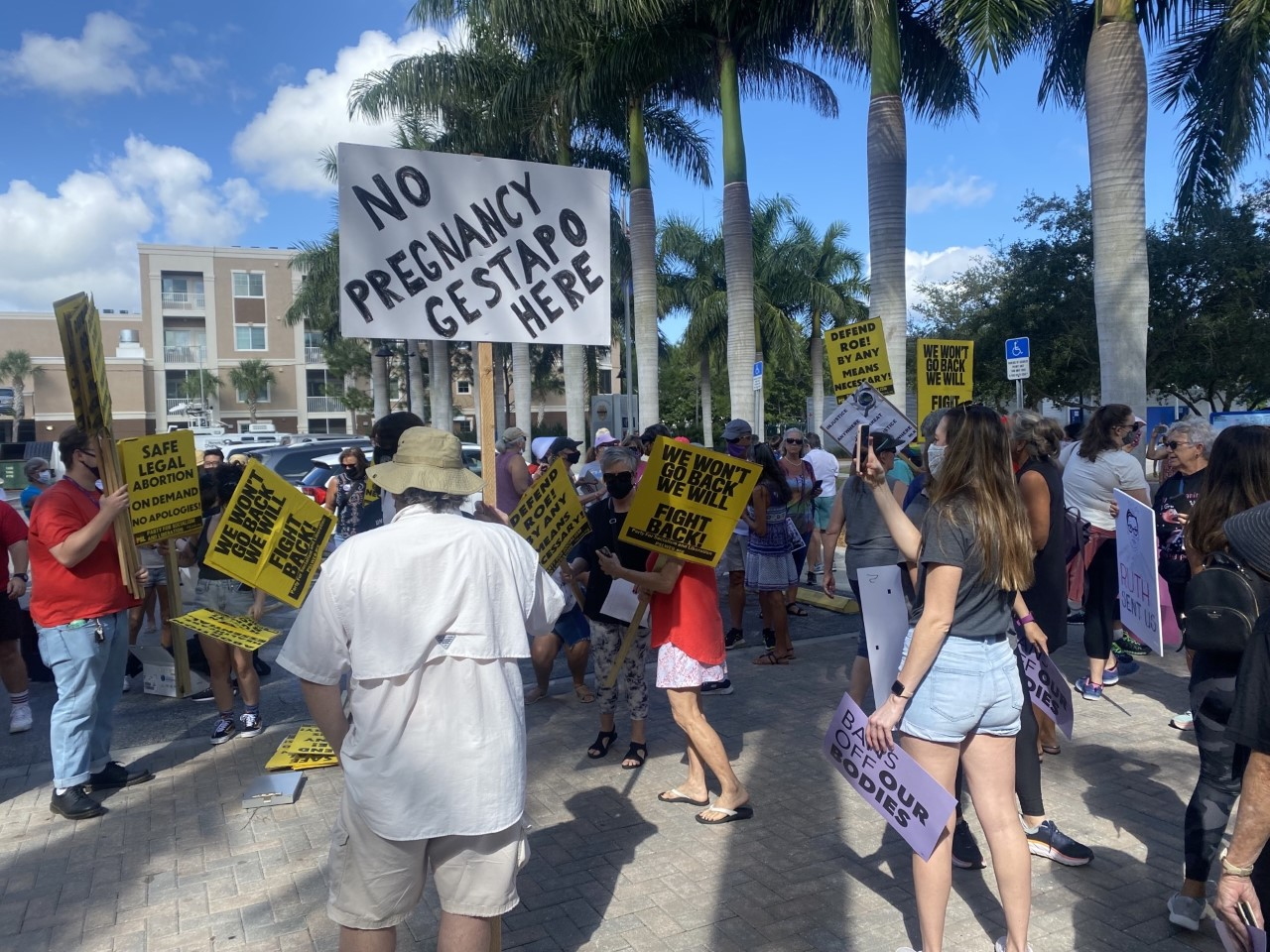 Rallying for reproductive rights in Bradenton, FL
